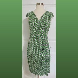 Maggy London Surplice Faux Wrap Dress Size 4P
